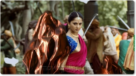 Actress Anushka Shetty @ Bahubali Movie Making Photos